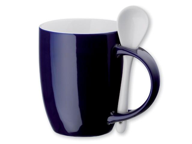 Mug ceramique 350 ml avec cuiller