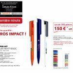 Promotion stylos bille Janvier 2018