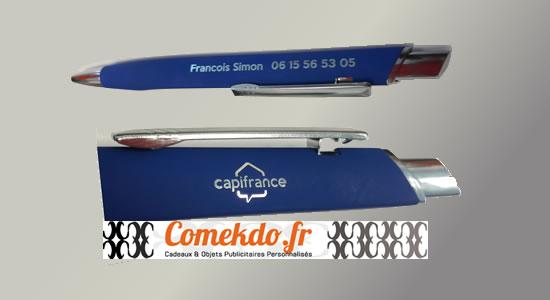 Réalisation Imaction/Comekdo : stylos bille SoftTouch