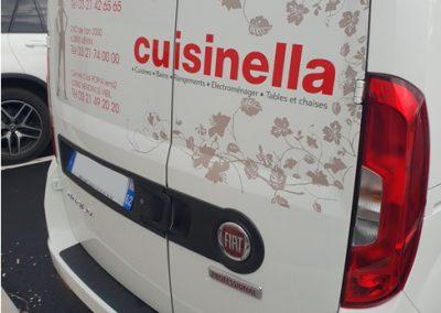 Covering Véhicule flotte Cuisinella réalisation Imaction