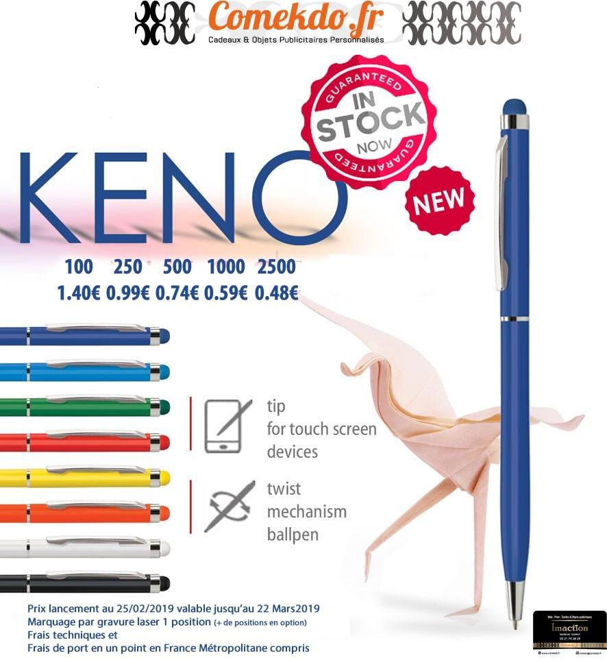 Noueauté février 2019: stylo métal Keno
