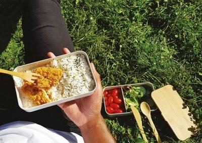 Bento en cosse de riz 2 compartiments