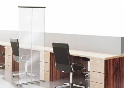 Roll-up barrière transparent Basic