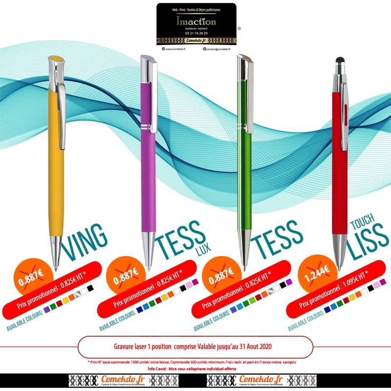 Promotion stylo bille métal été 2020