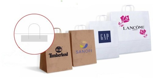 Sacs shopping papier anses torsadées made in Europe